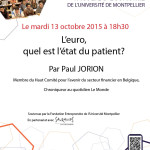 Conference Paul JORION